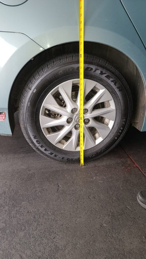 Toyota Prius with Spring Spacers