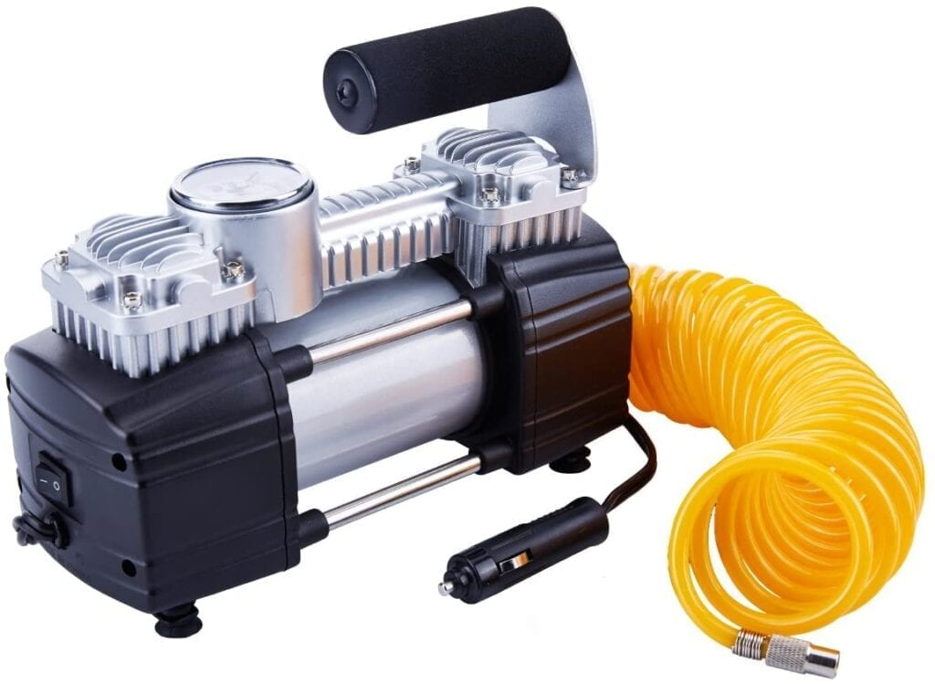 Tirewell 12v Air Compressor installed on a Toyota Prius