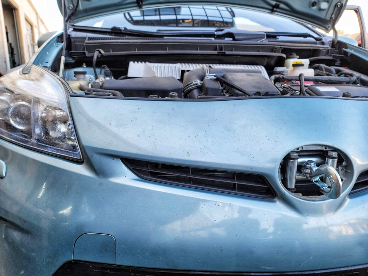 """Toyota Prius Tow Winch Hidden Hitch 2"""" 4500lbs"""