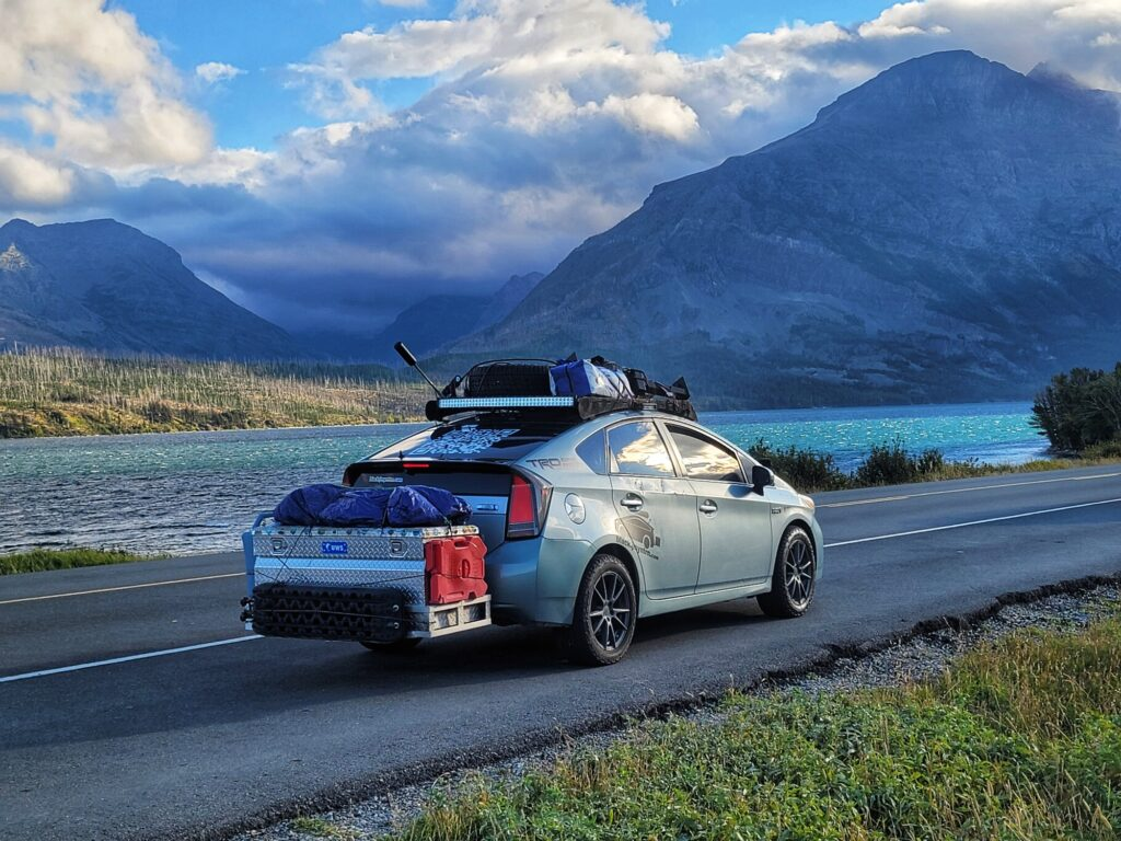 Toyota Prius Overland Off-Road Lift The Black Jimmy Neutron All-Terrain Tires Roof Rack Suspension Springs