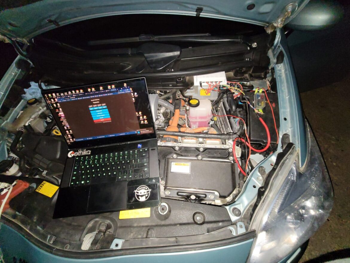 My Prius with LED lights and Sonoff 4CH Pro R3 Wi-Fi Smart Switch